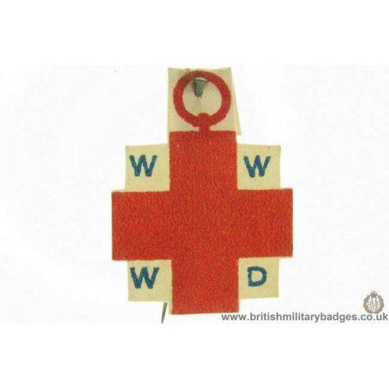 K1B/48 - WW1 Red Cross WWWD Flag Day Fundraising Pin Badge