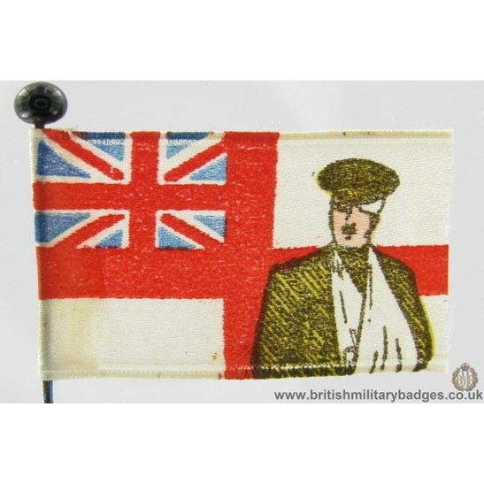 K1B/53 - WW1 Wounded British Soldiers Flag Fundraising Pin Badge
