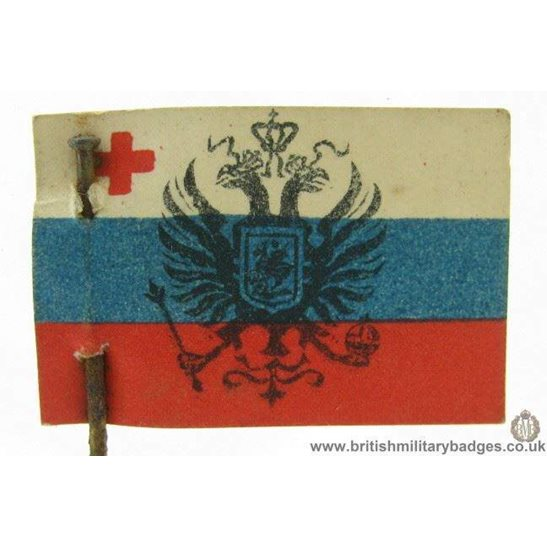 K1B/55  WW1 Help Russia Red Cross Flag Day Fundraising Pin Badge