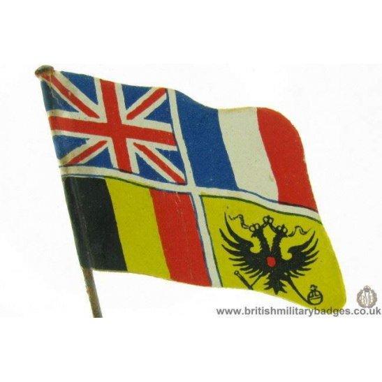K1B/59 - WW1 Allies Britain Belgium France Fundraising Pin Badge