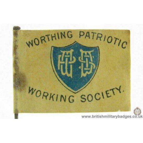 K1B/67 - WW1 Worthing Patriotic Working Society Day Pin Badge