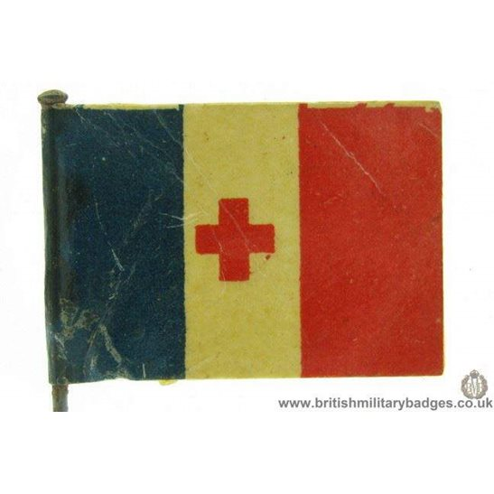 K1B/77  WW1 Help France Red Cross Flag Day Fundraising Pin Badge