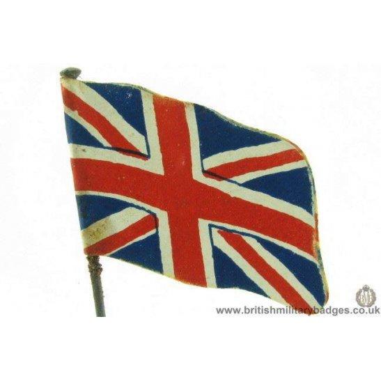 K1B/81 - WW1 British Union Jack Flag Day Fundraising Pin Badge