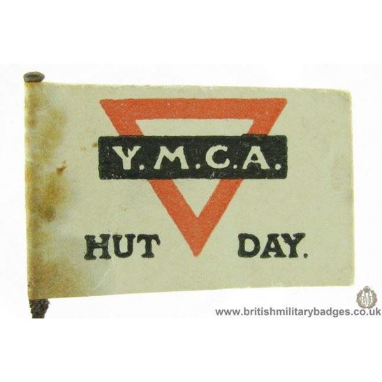"K1B/88 - WW1 YMCA ""Hut Day"" Flag Day Fundraising Pin Badge"