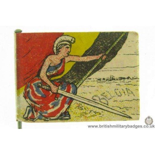 K1B/92 - WW1 Britannia & Help Belgium Flag Day Fund Pin Badge
