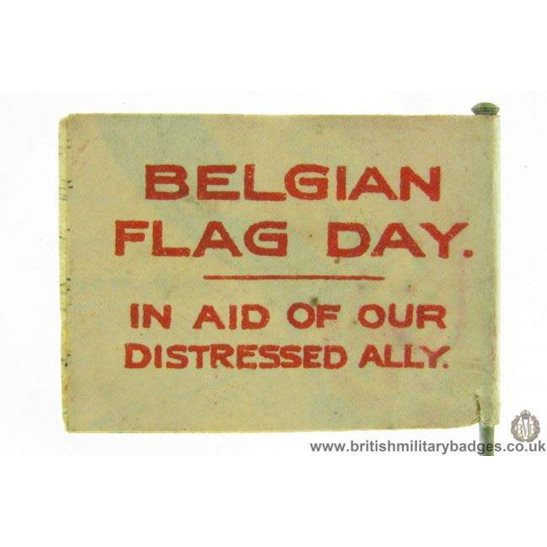 additional image for K1B/92 - WW1 Britannia & Help Belgium Flag Day Fund Pin Badge