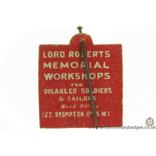 K1B/98 - WW1 Lord Roberts Fund or Disabled Soldiers Pin Badge