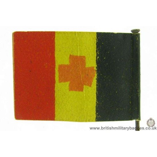 K1C/01 - WW1 Belgian Red Cross Flag Day Fundraising Pin Badge