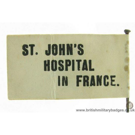 K1C/06 - WW1 St Johns Hospitals in France Fund Pin Badge