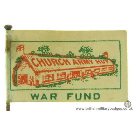 K1C/37 - WW1 Church Army Hut War Fund Fundraising Pin Badge