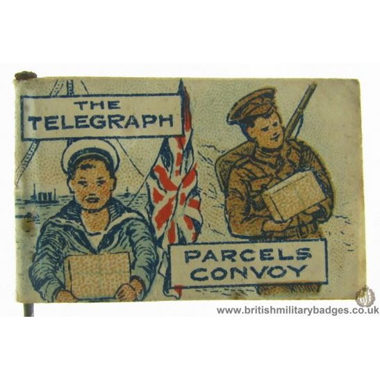K1C/43 WW1 The Telegraph Newspaper Parcels Convoy Fund Pin Badge