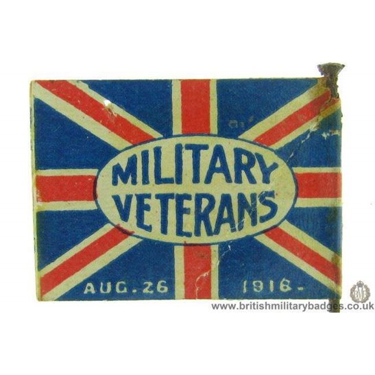 K1C/44 - WW1 Military Veterans August 26th 1918 Fund Pin Badge
