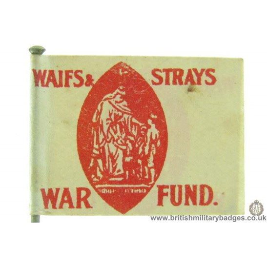 K1C/39 - WW1 Waifs & Strays Orphans War Fund Flag Day Pin Badge