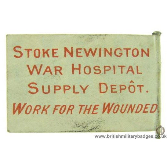 additional image for K1C/49  WW1 Stoke Newington War Hospital Supply Depot Flag Badge