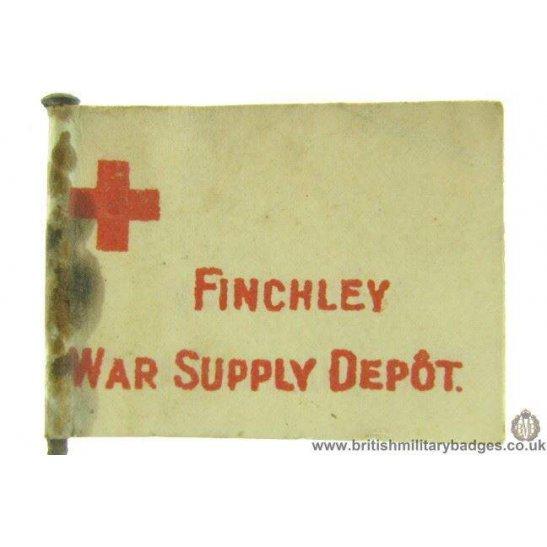K1C/51  WW1 Finchley War Supply Depot Flag Day Fundraising Badge