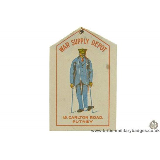 K1C/54 - WW1 War Supply Depot Flag Day Fundraising Pin Badge