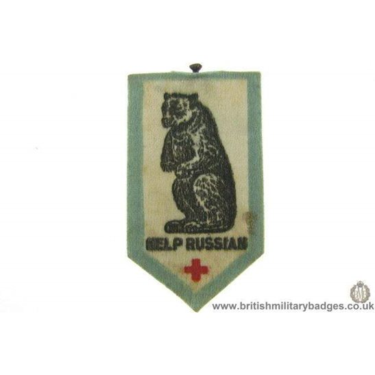 K1C/59  WW1 Help Russia Red Cross Flag Day Fundraising Pin Badge