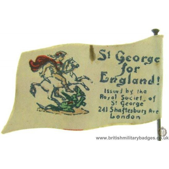 K1C/61 - WW1 St George of England Flag Day Fundraising Pin Badge