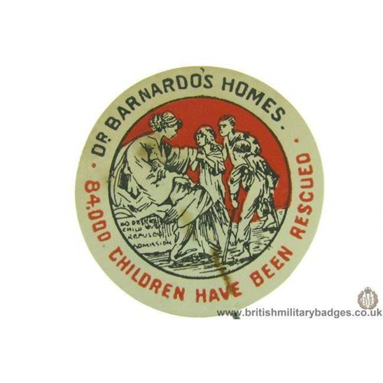 K1C/62 Dr Barnardo's Homes Childrens Charity Flag Day Fund Badge