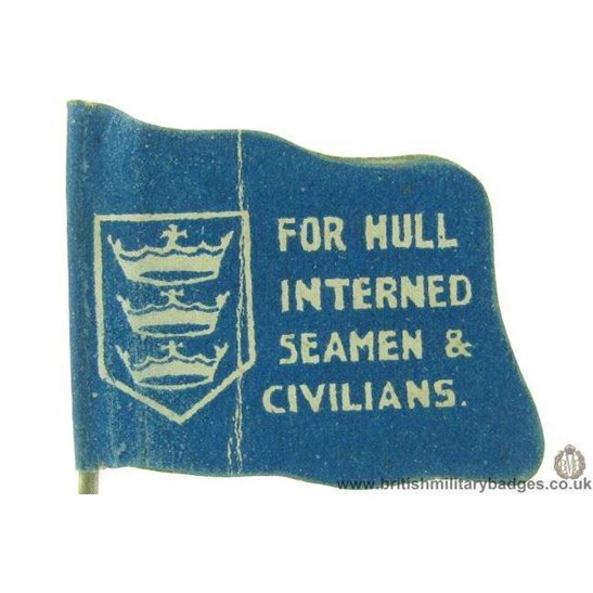 K1C/63 - WW1 For Hull Interned Seamen & Civilians Flag Day Badge