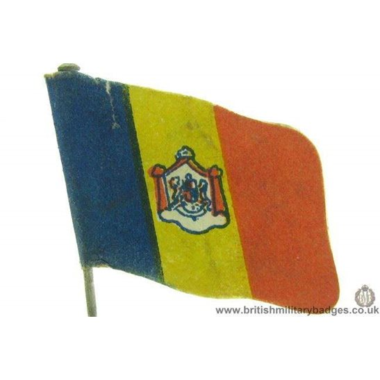 K1C/65 - WW1 Help Romania Flag Day Fundraising Pin Badge