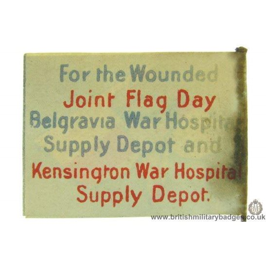 K1C/66 - WW1 Kensington & Belgravia War Hospitals Flag Day Badge