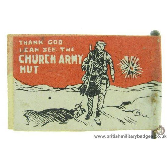 K1C/69 - WW1 Church Army Hut War Fund Fundraising Pin Badge