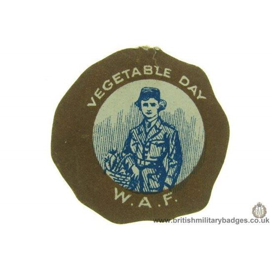K1C/70 - WW1 WAF Vegetable Day Fund Fundraising Pin Badge