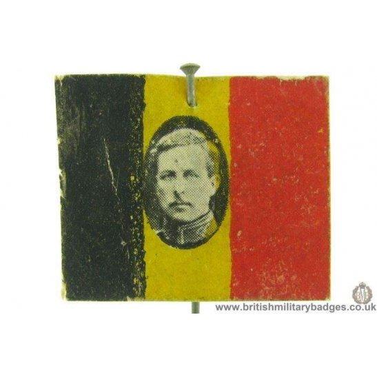K1C/72 - WW1 Belgium / Belgian Flag Day Fundraising Pin Badge