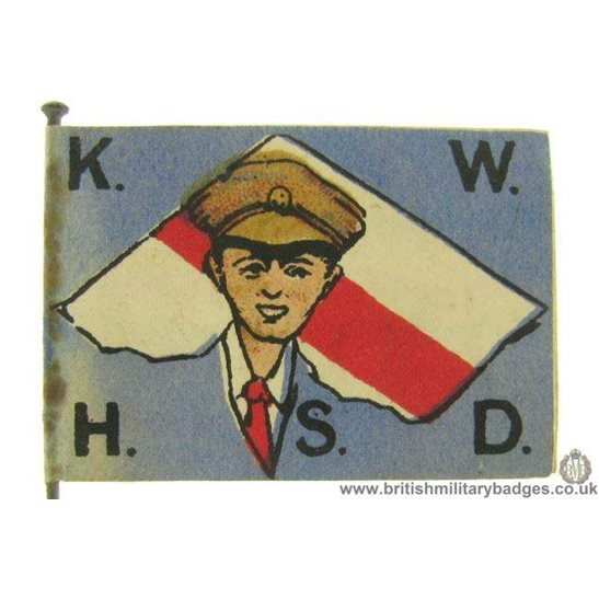 K1C/74 - WW1 Kensington War Hospital Fundraising Flag Day Badge