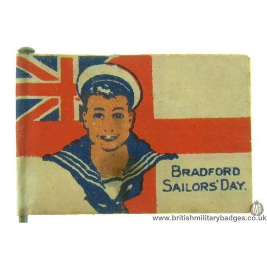 K1C/75 - WW1 Bradford Royal Navy Sailors Day Flag Day Badge