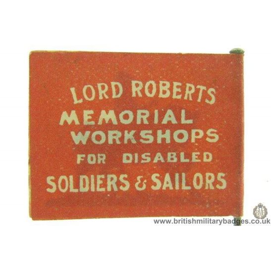 K1C/80 - WW1 Lord Roberts Fund or Disabled Soldiers Pin Badge