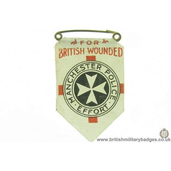 K1C/82 - WW1 Manchester Police Effort for British Wounded Badge