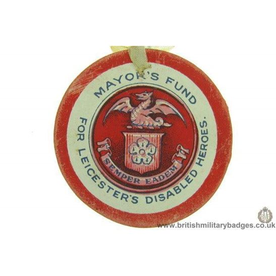K1C/86 - WW1 Fund for Leicester's Disabled Heroes Flag Badge