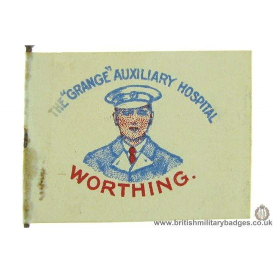 "K1C/96 - WW1 The ""Grange"" Auxiliary Hospital Worthing Flag Badge"