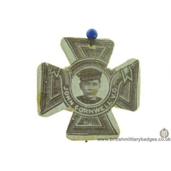 K1D/04 - WW1 John Cornwell V.C. Victoria Cross Flag Day Badge