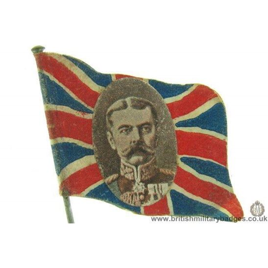 K1D/05 - WW1 Union Jack Horatio Lord Kitchener Flag Day Badge