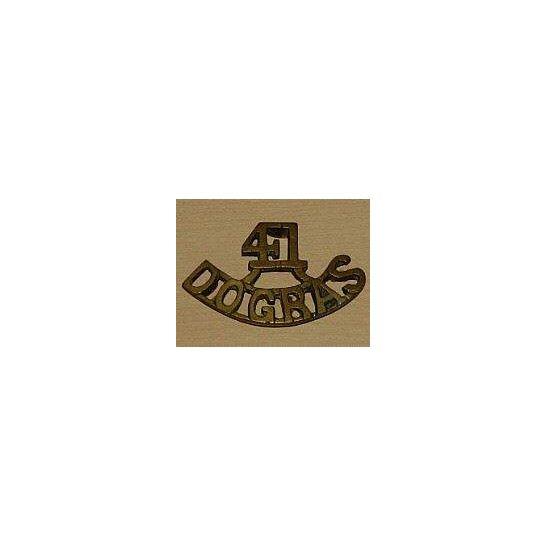 MM09/041 - 41st Dogras Regiment Shoulder Title