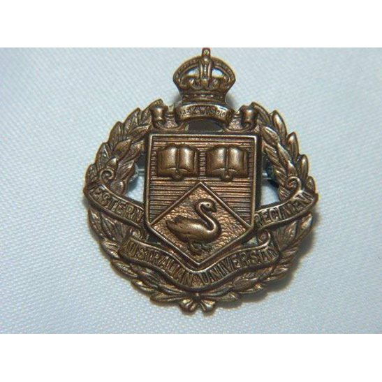 L55/227 - Western Australian University Regiment Collar Badge