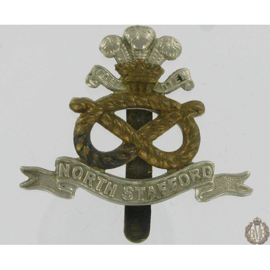 1A/015 - The North Staffordshire Regiment Cap Badge - Stafford