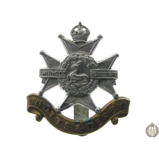 "1B/010 - Sherwood Forresters ""Notts & Derby"" Regiment Cap Badge"