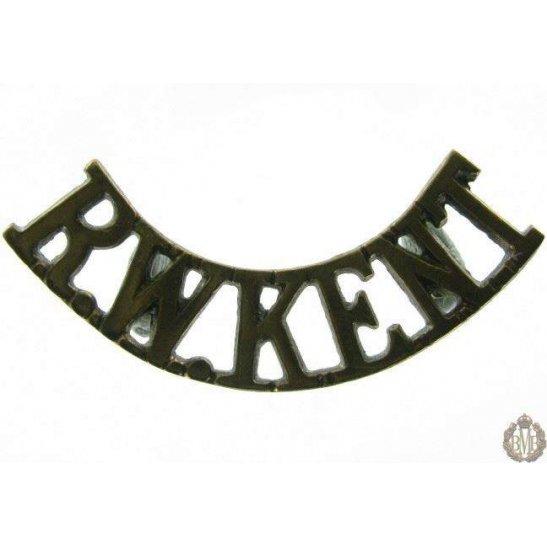 1B/037 - Queens Own Royal West Kent Regiment Shoulder Title