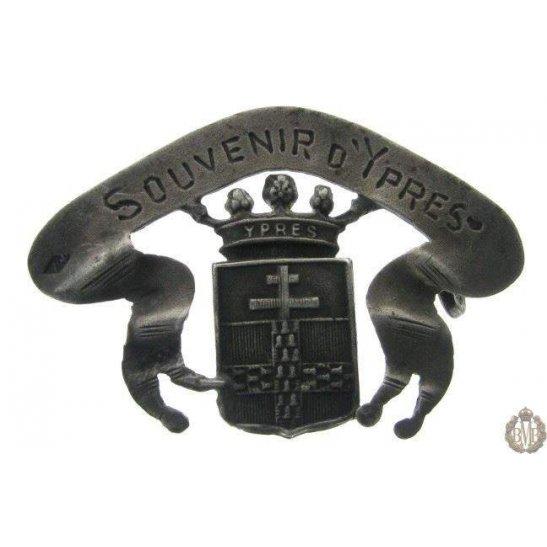1B/051 - Battle of Ypres Battlefield Souvernir Sweetheart Brooch