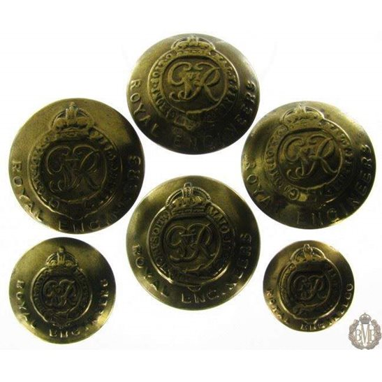 1B/055 - Royal Engineers Corps RE Tunic Buttons x6