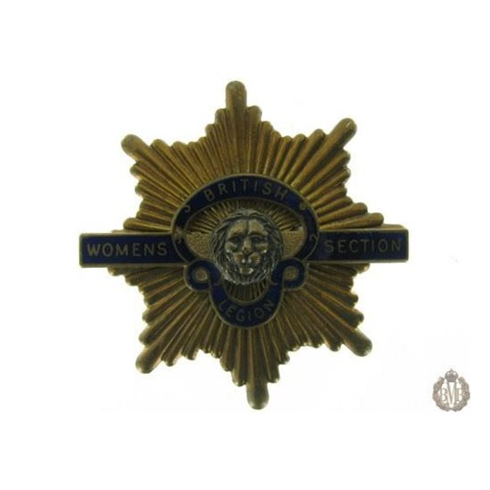 1C/024 - Women's Section Royal British Legion Cap Badge - RBL