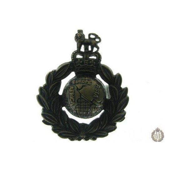 1C/033 - Royal Marines Corps / Regiment Cap Badge - Queens Crown