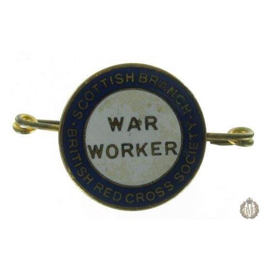 1D/014  Scottish Branch British Red Cross War Worker Lapel Badge