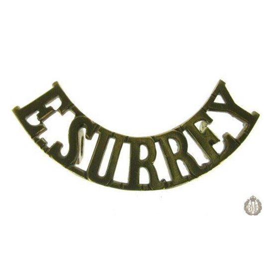 1E/004 - East Surrey Regiment Shoulder Title