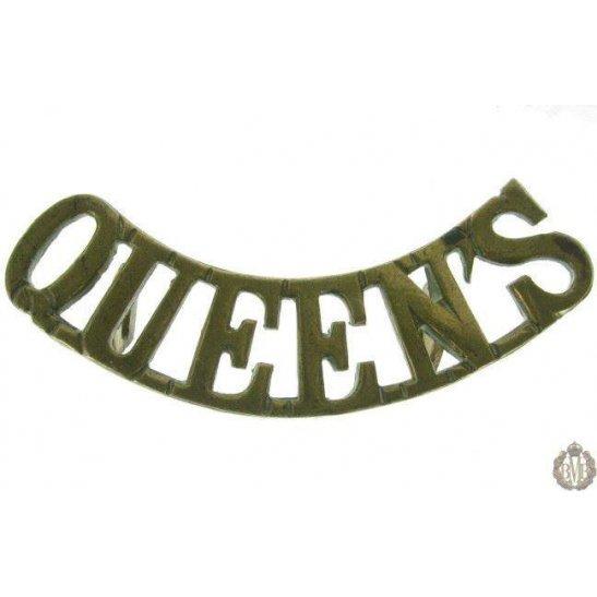 1F/002 - Queen's West Surrey Regiment Queens Shoulder Title