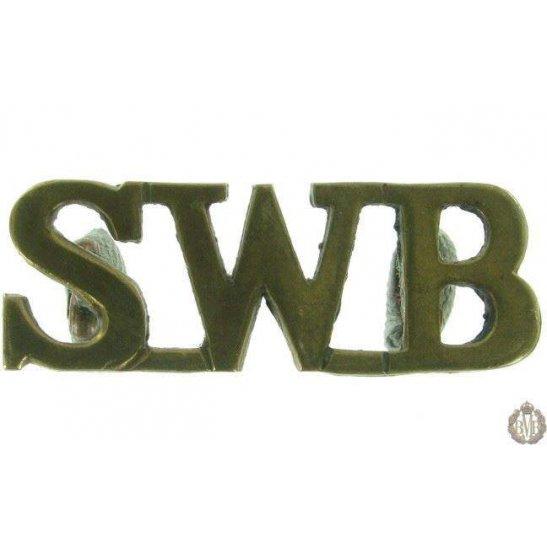 1F/050 - South Wales Borderers Regiment SWB Shoulder Title